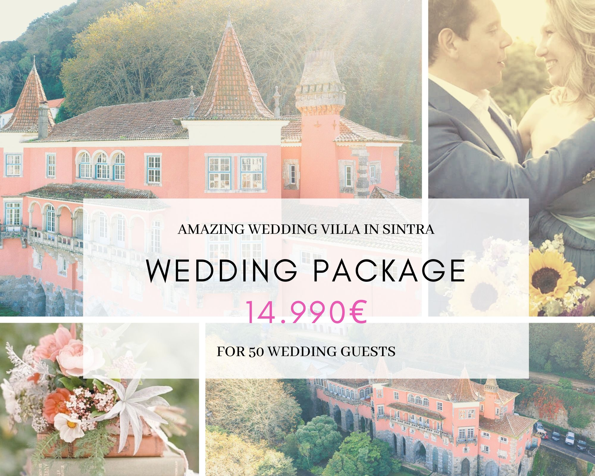 Pacote Casamento Villa em Sintra
