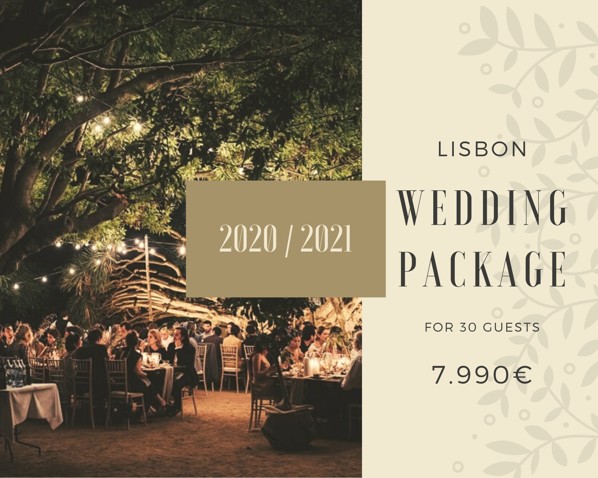 Lisbon Wedding Package 30 guests
