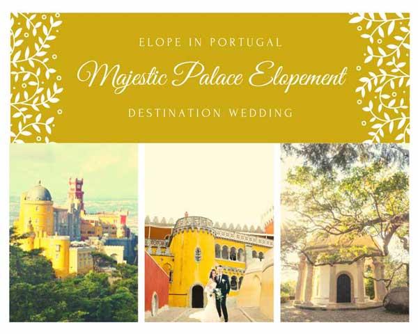 Pacote Casamento a Dois Palacio da Pena Sintra_Organizacao Casamentos Portugal